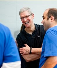 Tim Cook wearing Nike FuelBand