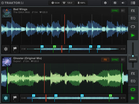 Traktor DJ for iOS (iPhone screenshot 001)