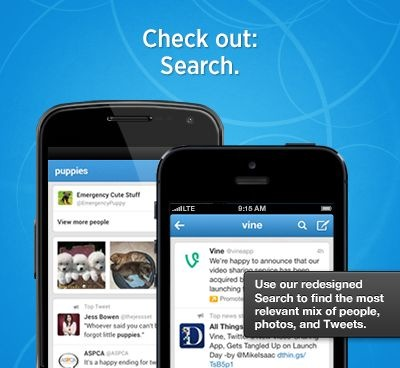 Twitter mobile search