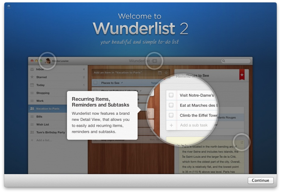 Wunderlist 2.0 for Mac (teaser)