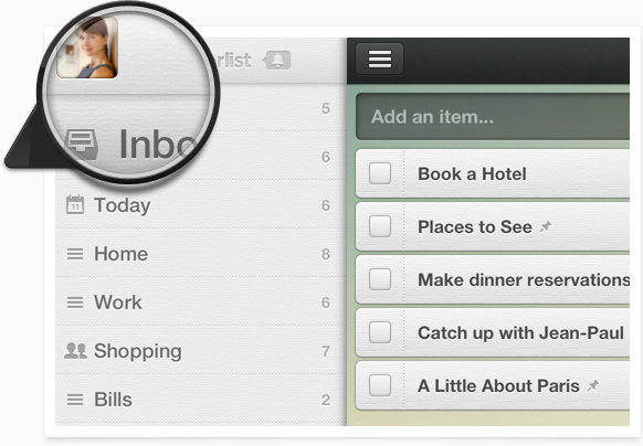Wunderlist 2.0.2 for iOS (Retina graphics)