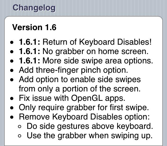 Zephyr 1.6.1 Change Log