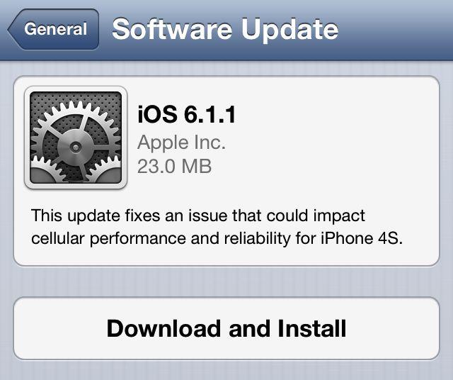 iOS 6.1.1 prompt