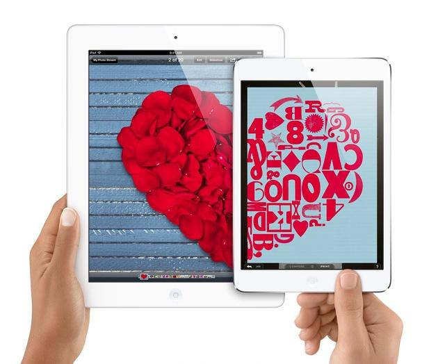 iPad in hands (two-up, iPad, iPad mini)