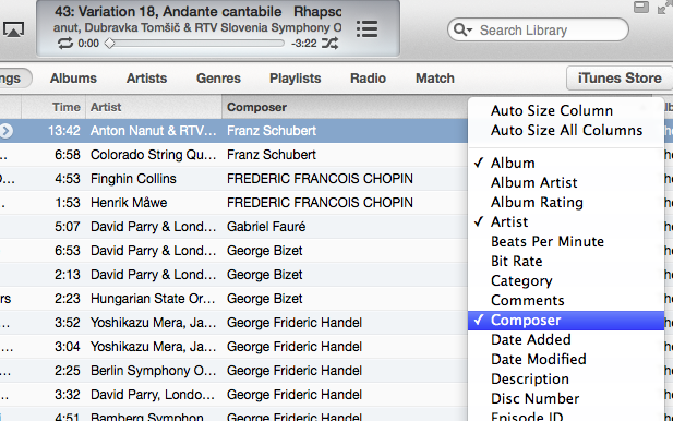 iTunes 11.0.2 Composer view