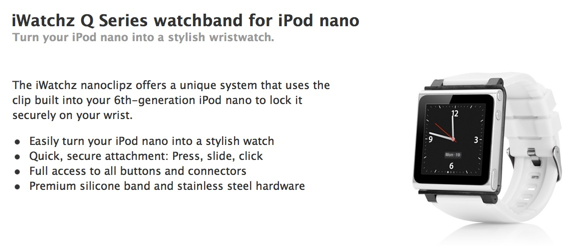 iWatchZ Q series watch band for iPod nano