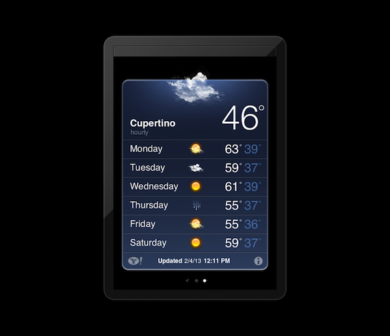 ipad weather app