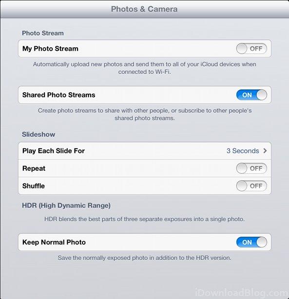 settings HDR