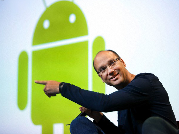 Andy Rubin and Android logo