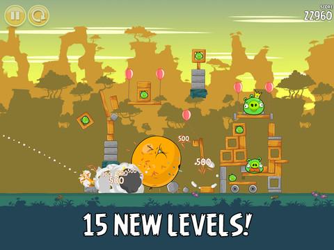 Angry Birds 3.1 for iOS (iPad screenshot 001)