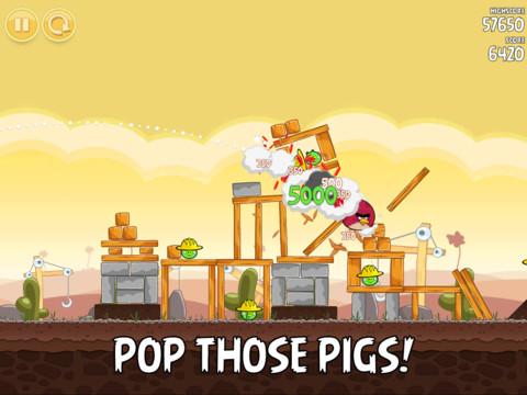 Angry Birds 3.1 for iOS (iPad screenshot 002)