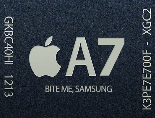 Apple A7 (bite me Samsung)