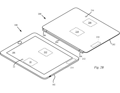 Apple patent iPad inductive charging