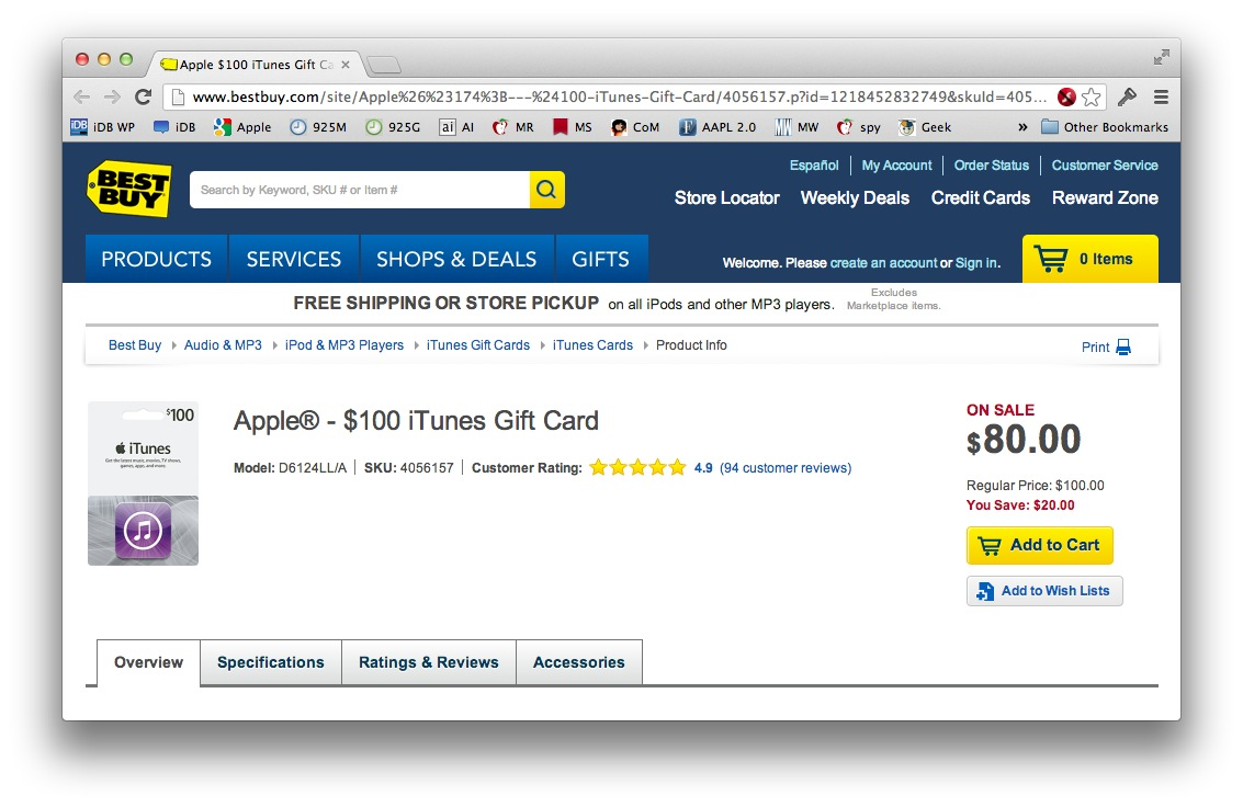 Best Buy iTunes gift Card promo