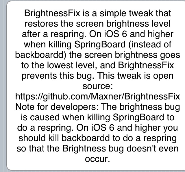 Brightness fix for iOS 6 01