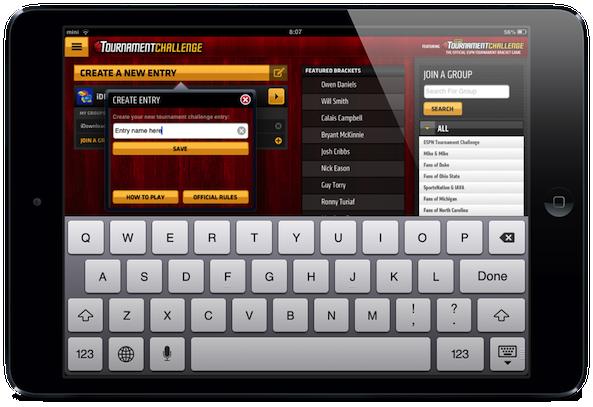 ESPN App New Entry