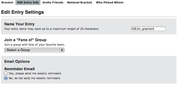 ESPN Name Bracket