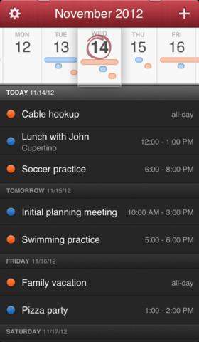 Fantastical 1.1 for iOS (iPhone screenshot 001)