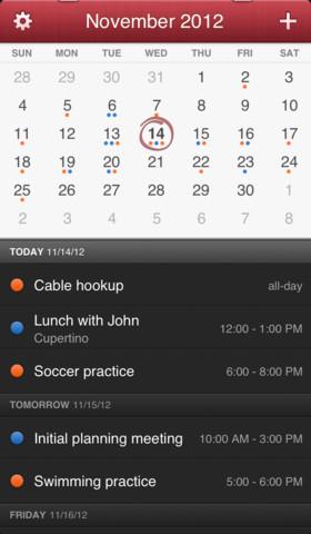 Fantastical 1.1 for iOS (iPhone screenshot 002)