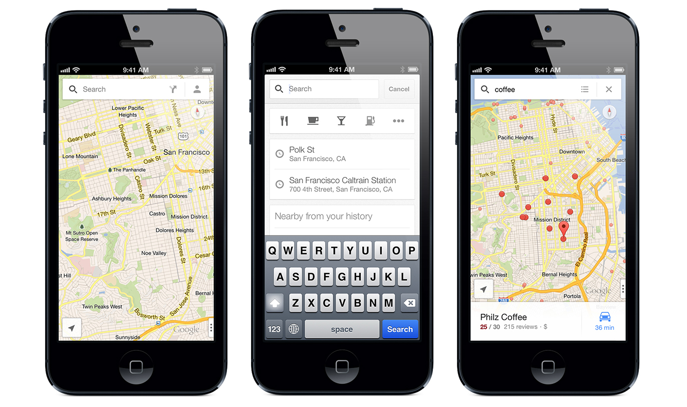 Google Maps 1.1 for iOS (teaser 001)