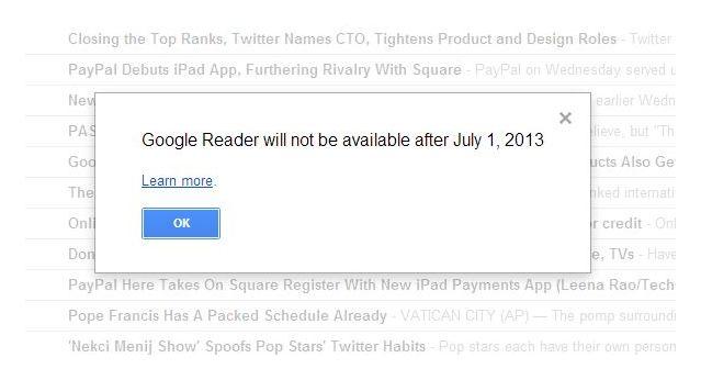 Google Reader demise