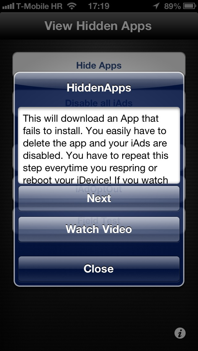 HiddenApps 1.0 for iOS (iPhone screenshot 003)