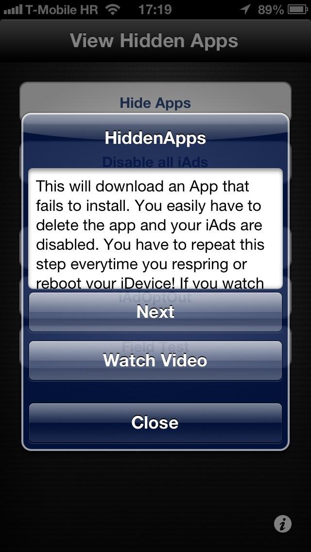 HiddenApps 1.0 for iOS (iPhone screenshot 003)