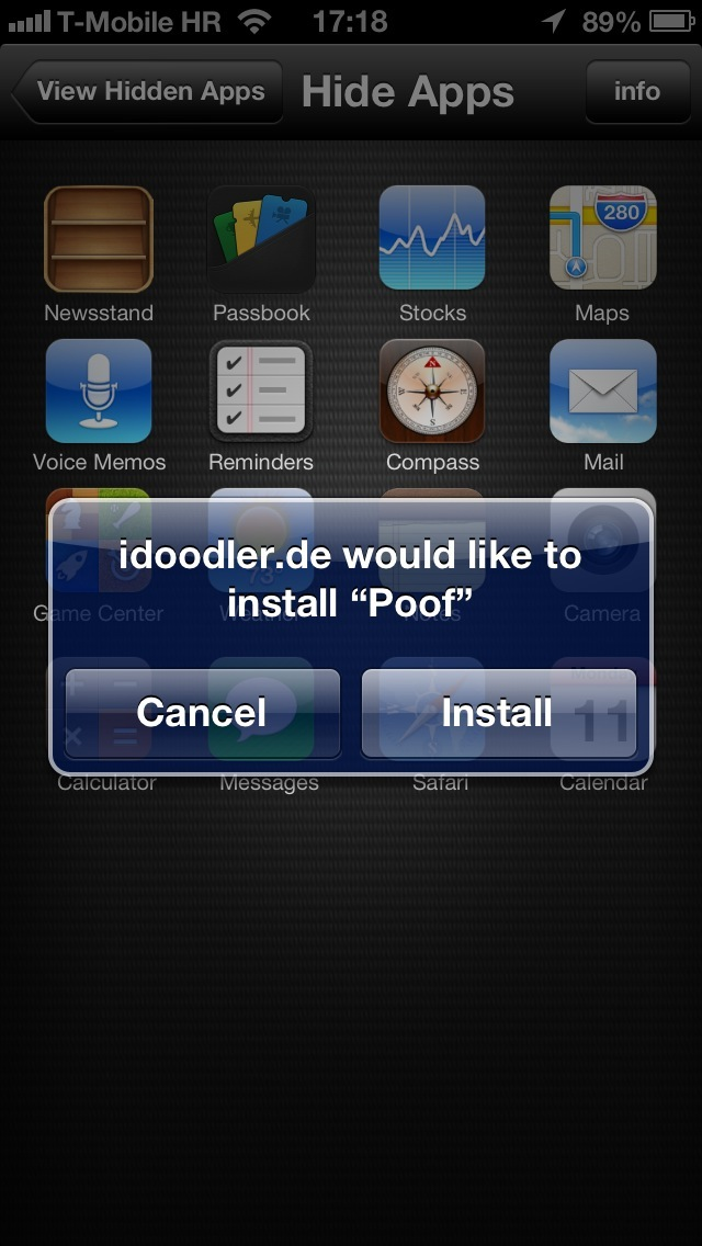 HiddenApps 1.0 for iOS (iPhone screenshot 004)