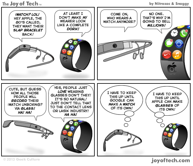 Joy of Tech Glass vs iWatch