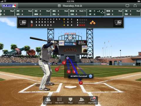MLB.com At Bat 6.1 for iOS (iPad screenshot 001)