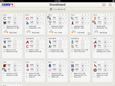MLB.com At Bat 6.1 for iOS (iPad screenshot 002)