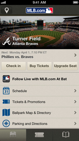 MLB.com At the Ballpark 2.0 for iOS (iPhone screenshot 001)