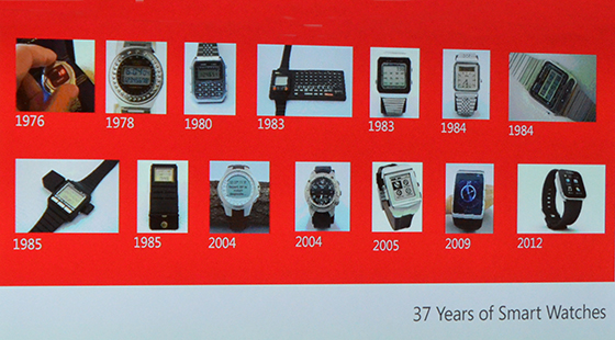 Microsoft 37 years of smarwatches slide