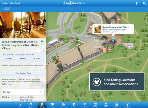 My Disney Experience for iOS (iPad screenshot 001)