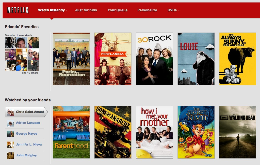Netflix social experience