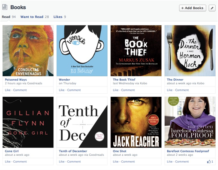 New Facebook Timeline (Books)