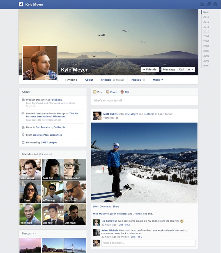 New Facebook Timeline (Design)