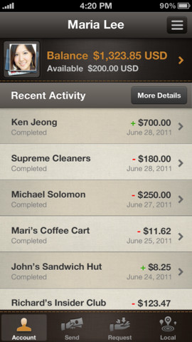 PayPal 4.5 for iOS (iPhone screenshot 001)
