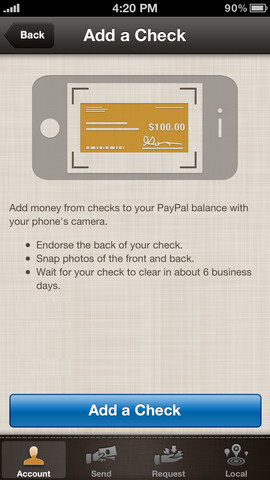 PayPal 4.5 for iOS (iPhone screenshot 003)