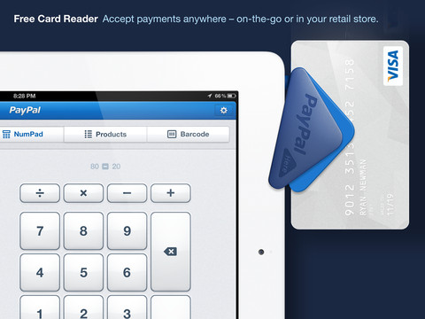 PayPal Here for iPad 1.0 (iPad screenshot 001)
