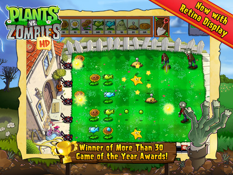 Plants vs Zombies (iPad screenshot 001)