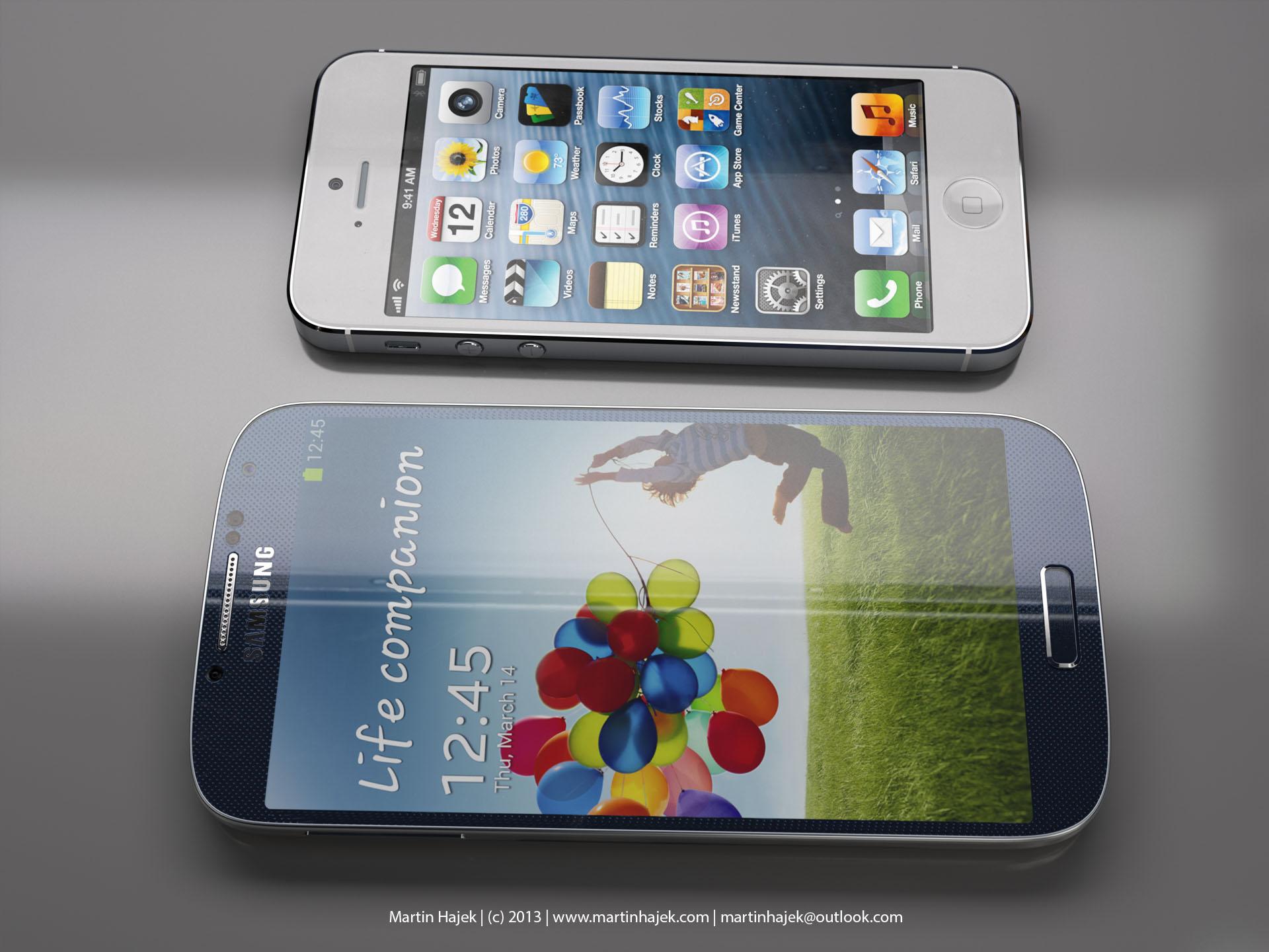 Size comparison (Galaxy S4 vs iPhone 5, Martin Hajek 004)