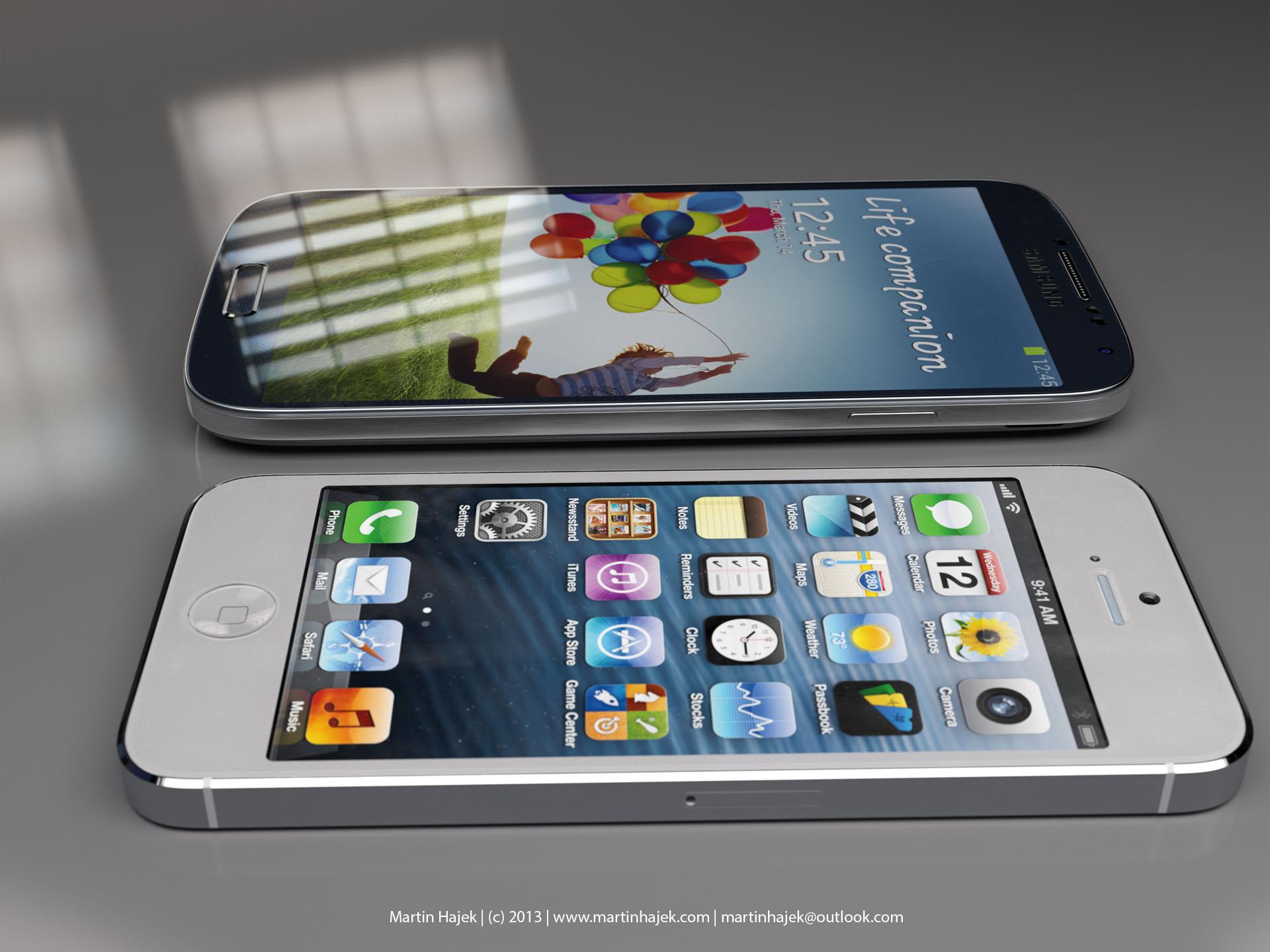 Size comparison (Galaxy S4 vs iPhone 5, Martin Hajek 005)