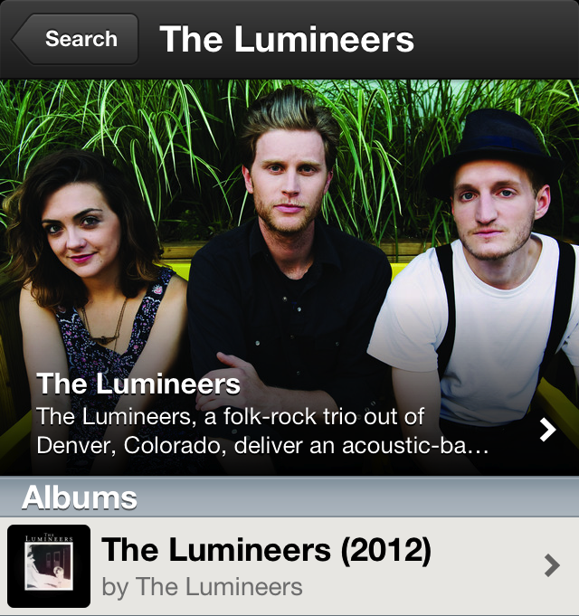 Spotify Lumineers Bio