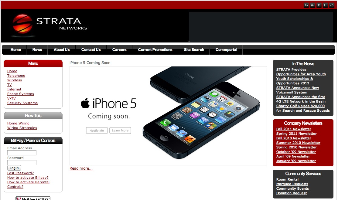 Strata Networks (iPhone 5 coming soon teaser)