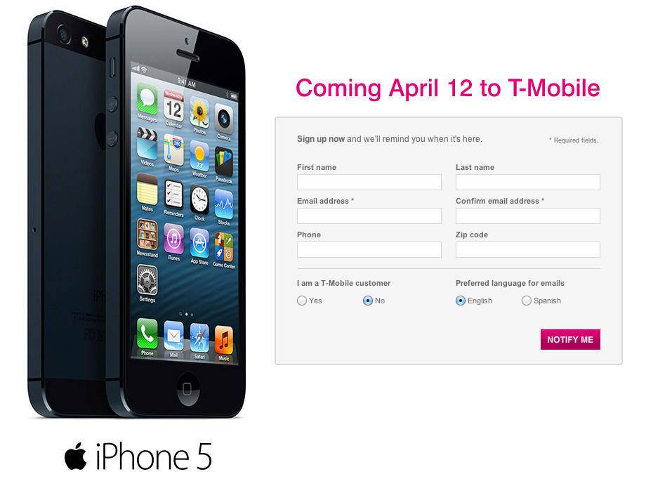 T-Mobile (iPhone coming soon teaser)