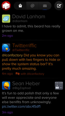 Twitterrific 2.5 for iOS (iPhone screenshot 001)