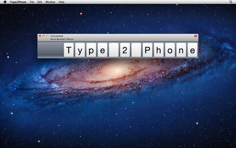 Type2Phone (Mac screenshot 001)