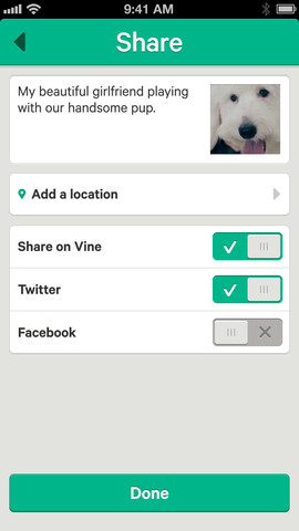 Vine 1.0.7 for iOS (iPhone screenshot 001)