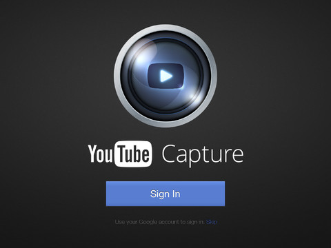 YouTube Capture 1.2 for iOS (iPad screenshot 001)